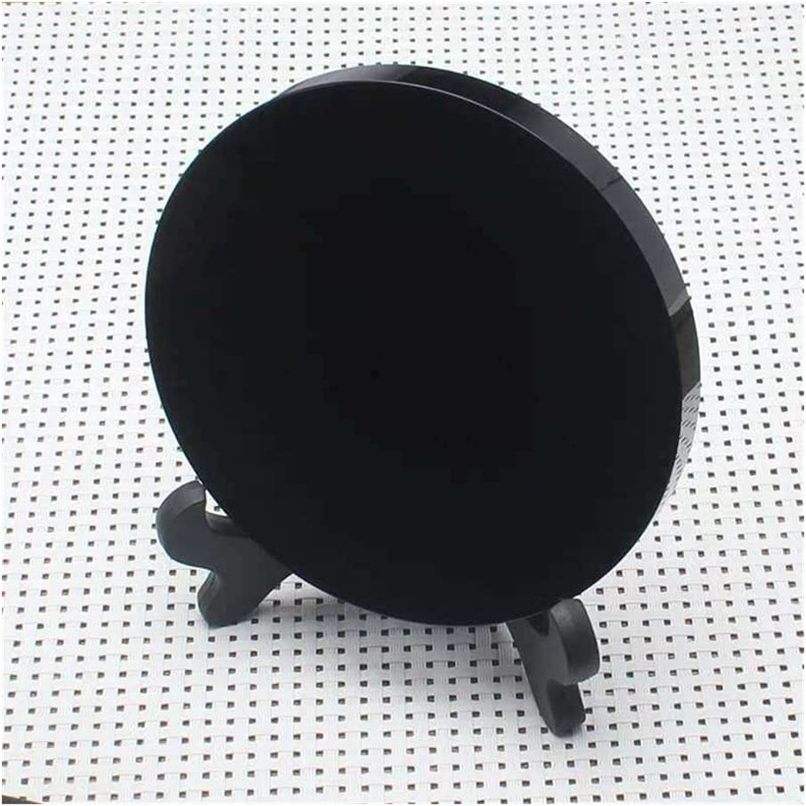 GOSOU Natural Black Obsidian Stone fengs Round Disk Plate Circle Now on sale Animer and price revision