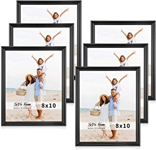 LaVie Home 8x10 Picture Frames(6 Pack, Black) Single Photo Frame with High Definition Glass for Wall Mount & Table Top Display, Set of 6 Basic Collection