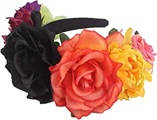 Kewl Fashion Women's Rose Flower Headband for Christmas Halloween Party Travel Festivals