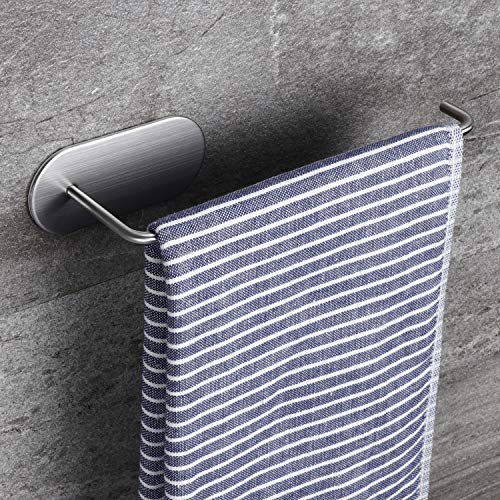 ZUNTO 210mm Toallero Baño Adhesivo Toalleros Anilla Autoadhesivo Toalleros Barra de Para Baño y Cocina, 304 Acero Inoxidable