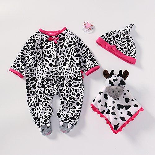 Binxing Toys Reborn Baby Doll Ropa Adecuado para muñecas recién Nacidas de 18-22 Pulgadas Accesorios para Bricolaje Solo Ropa de tamaño Real (Vaca)