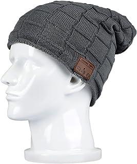BearsFire Wireless Music Beanie Hat with Bluetooth Headphones Headset Earphone Speaker Mic Unisex Winter Warm Knit Hats Th...