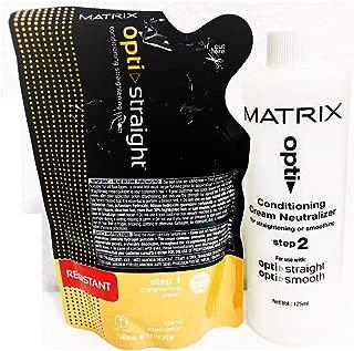 Matrix Opti. Straight Straightening Cream (125 ML) & Neutralizer (125 ML)Resistant