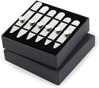 AOLVO, 6 stecche per colletto della camicia in acciaio inox, con 6 calamite, per uomo, 3 misure in confezione regalo (5,6 ...