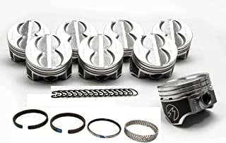 Speed Pro Hypereutectic Coated Flat Top Pistons+MOLY Rings compatible with Ford 351W 5.8L (.060
