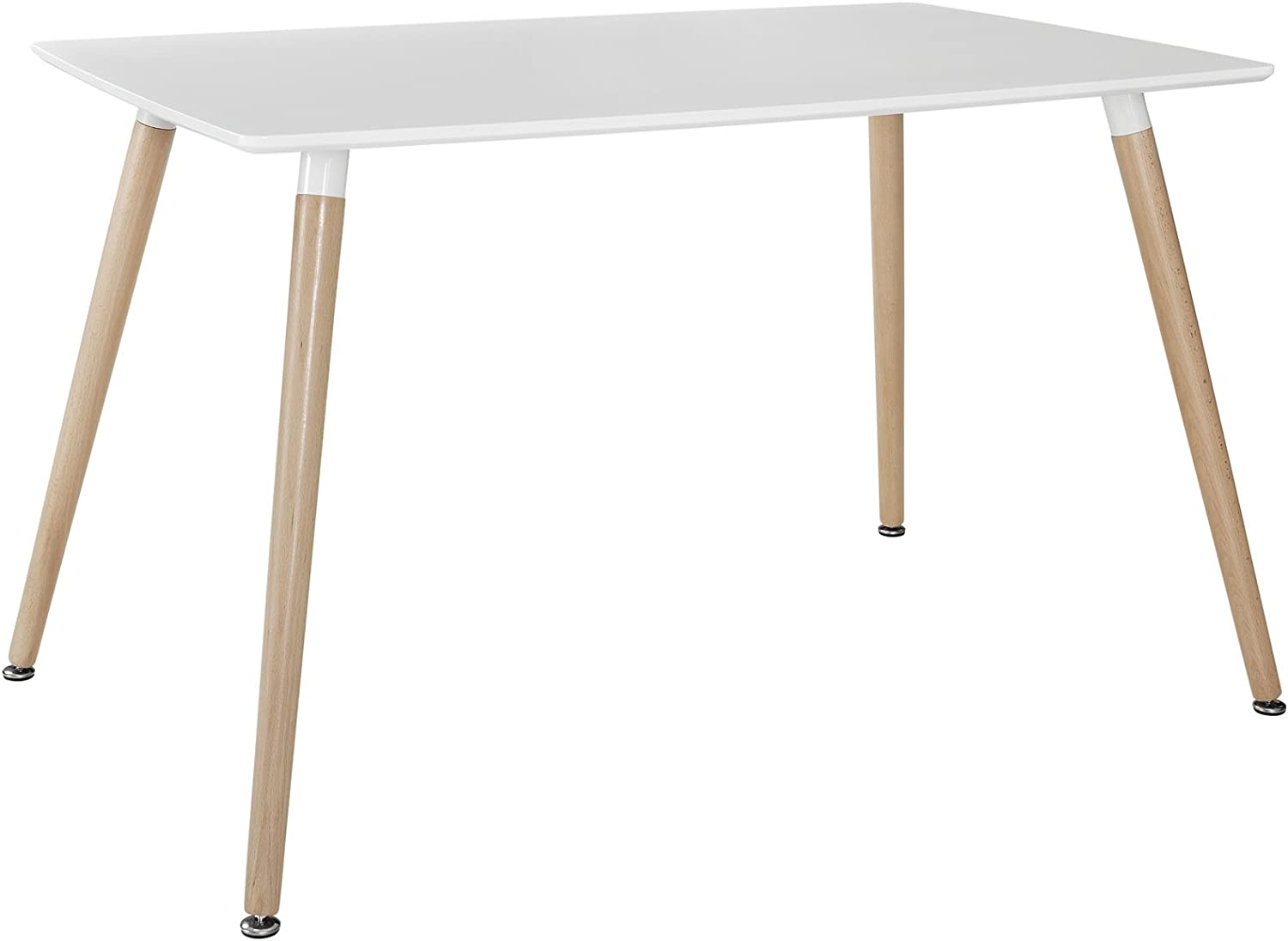 Modway Field Contemporary Mid-Century Dining Table in White