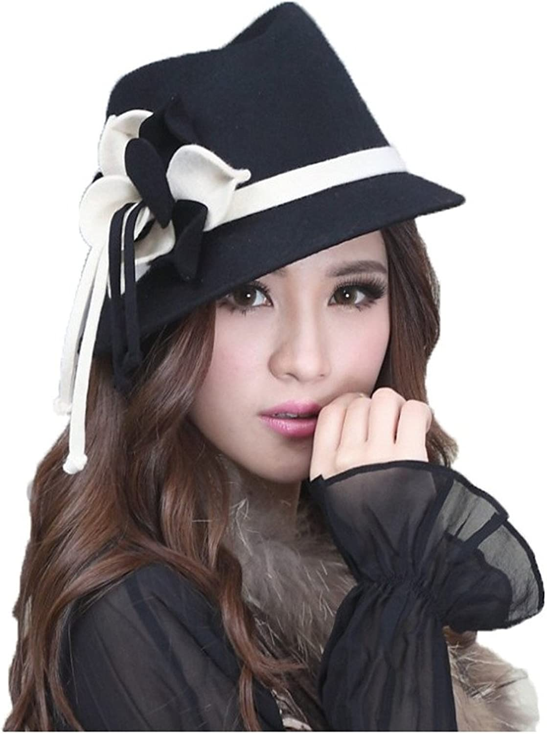 June's Young Elegant Women Hats Winter Hat Cloche Ribbons