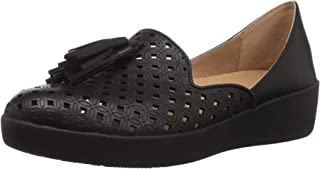 FITFLOP Women's Tassel Superskate D'Orsay Loafers-Latticed Leather