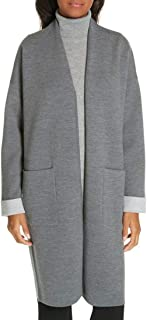 Theory Double Face Long Cardigan, Grey, Large