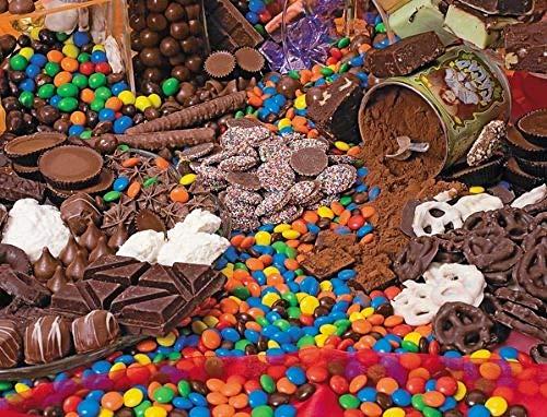 Bolos y chocolate-Pintar por Numeros Adultos Niños DIY Pintura por Números con Pinceles y Pinturas Decoraciones Pinturas para el Hogar - 40X50CM