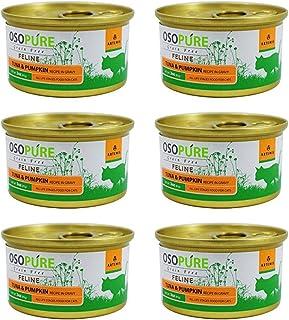 オソピュア グレインフリー キャットフード ツナ&サーモン缶 85g ×6缶セット