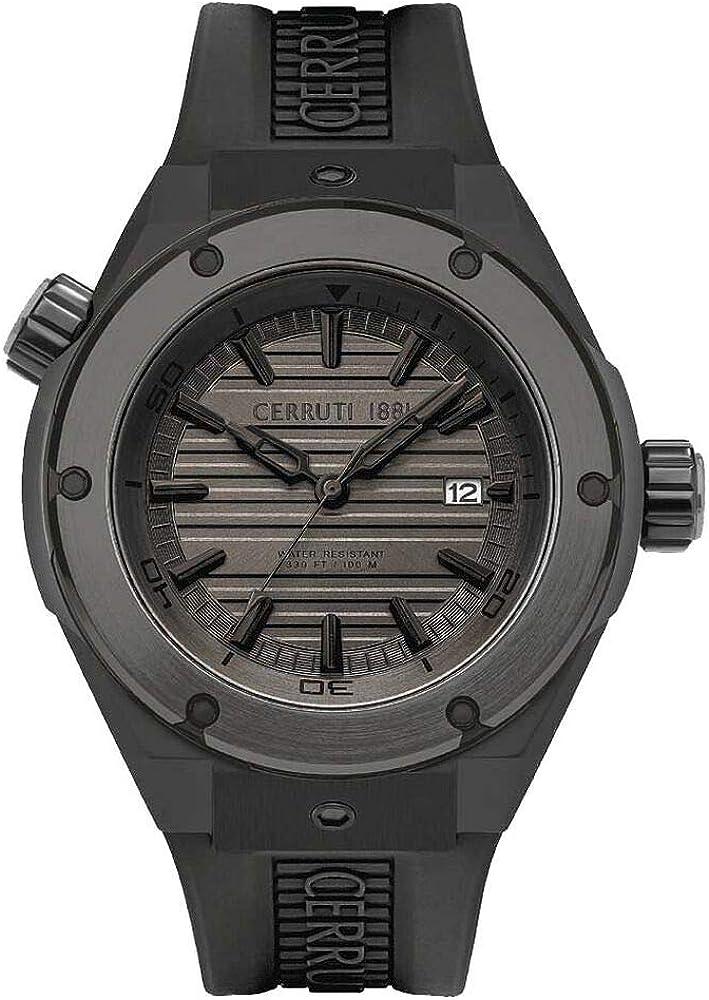 Cerruti 1881,orologio da uomo,in acciaio inossidabile  E CINTURINO IN SILICONE CRA30101