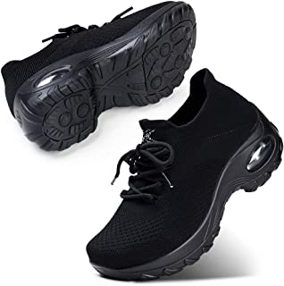 Womens Lightweight Walking Shoes Lace-up Fashion Casual Sneakers Ladies Nursing Shoes