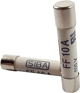 Zephyr 6.3 x 32mm 10A 600V DC Digital Multi Meter Fuse (Set of 2)