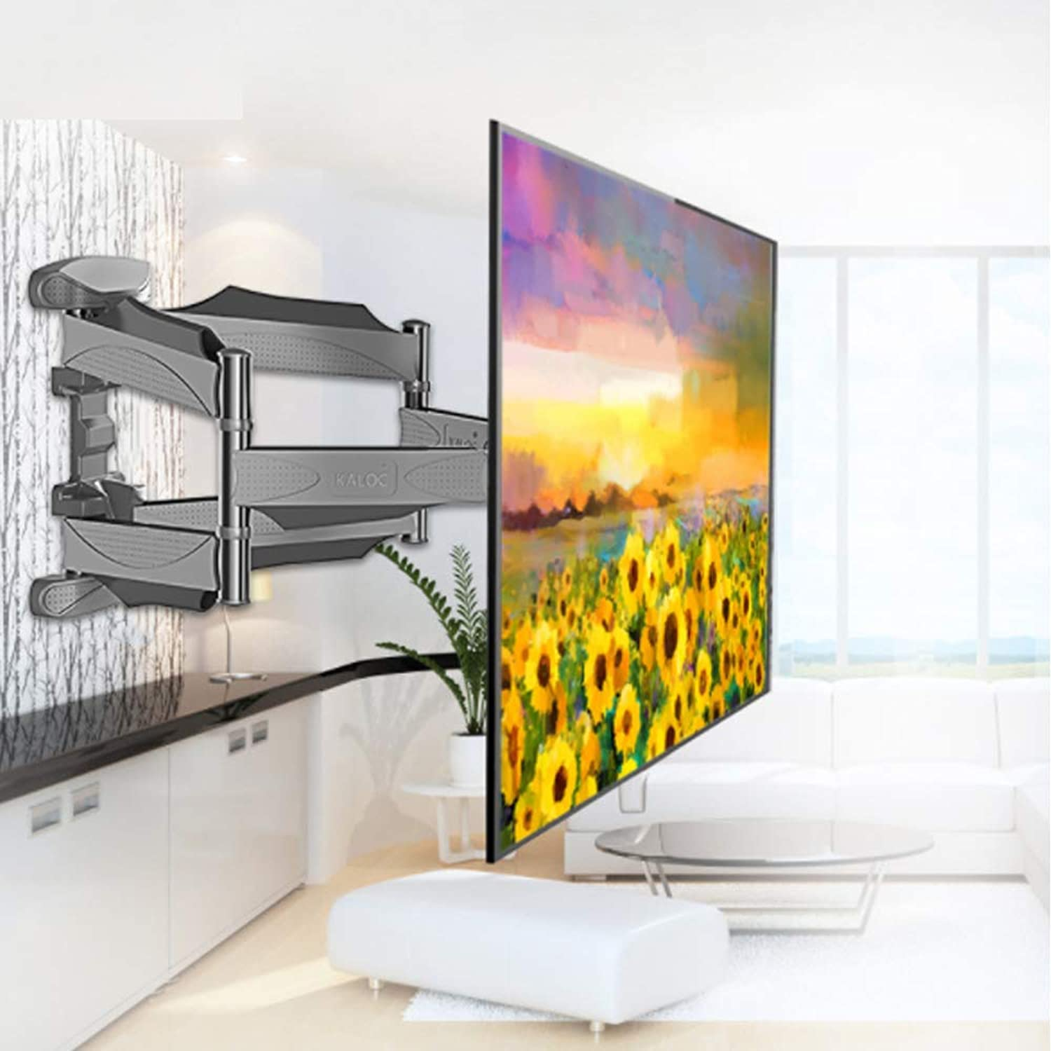 redatable TV Wall Mount Bracket Six-arm Stabilized Structure Telescopic TV Rack TV Multi-Functional Support Suitable for 99.9% TV Screen Sizes Between 32  to 55  with VESA Standard