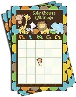 50 Gift Bingo - Baby Shower Game - Jungle Themed (50-Sheets)