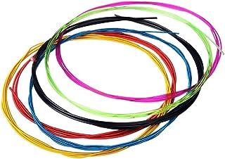 WGOEODI 6 stks/set Kleurrijke Klassieke Gitaar Snaren, 028-043 inch Nylon Gecoate Koperlegering Wond Snaren, kleurrijke