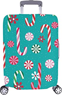 Christmas Lollipop Dessert Pattern Spandex Trolley Case Travel Luggage Protector Suitcase Cover 28.5 X 20.5 Inch