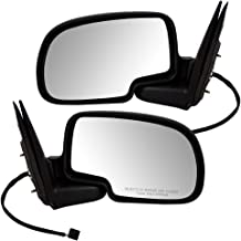 Power Side View Black & Chrome Mirrors Driver and Passenger Replacements for Chevrolet GMC Pickup Truck 15172249 15172248