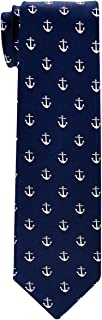 Retreez Classic Anchor Pattern Woven Boy's Tie - 8-10 years - Various Colors