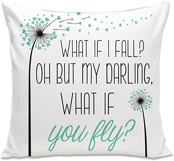 What If I Fall Oh But What If You Fly Throw Pillow Special Birthday Gift