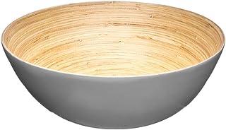 Point-Virgule saladier en Bambou Bol Cuisine Grand saladier Rond /ø 25cm H 11cm