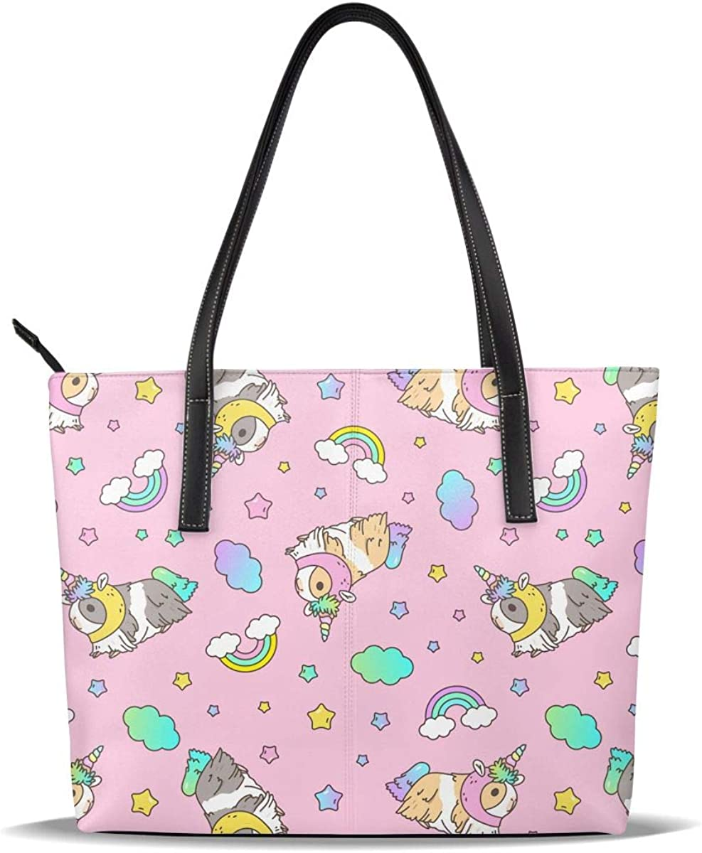 Pink Unicorn Selling rankings Guinea Pig PU Pattern Leather Printed Handba Casual Special price