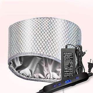 Vaporizador Térmico Eléctrico Gorro Para El Cabello LCD Tapa De Calefacción De Baja Presión Inteligente Para Natural O Dañado Nutriente Cabello Hidratar Acondicionamiento Profundo,Plata