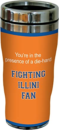 Tree-Free Greetings sg24736 Illini College Basketball Sip 'N Go Stainless Steel Lined Travel Tumbler,  16 Ounce