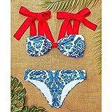 Vibner Señoras Traje Baño Bikini High Waist Swimwear Women SwimsuitBikini Bandage Bikinis Set Padded Bathing Suit New Leaf Print Biquini L Ka21082B1