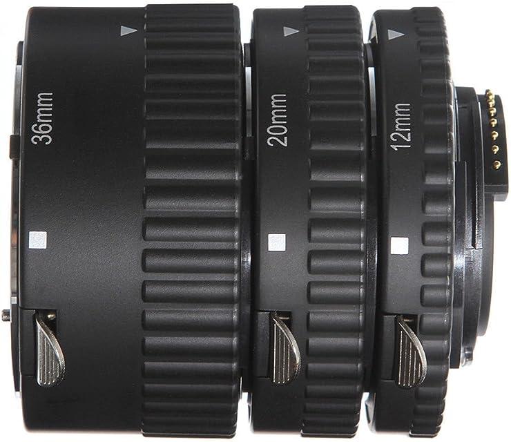 Fotga Auto Focus - Tubo de Extensión Macro (12 mm 20 mm 36 mm) para Cámaras Réflex Digitales Nikon D7500 D7200 D7100 D7000 D5600 D5300 D5200 D5100 D5000 D3100 D3000 D800 D600 D300s D300 D90 D80