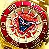 世界4000個限定 アイアンマン アークリアクター インビクタ コラボ 腕時計 ウォッチ 赤×金