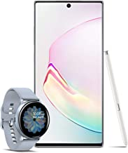 Samsung Galaxy Note 10+ Plus Factory Unlocked 256GB, Aura White with Galaxy Watch Active2 W/Enhanced Sleep Tracking Analysis,Silver