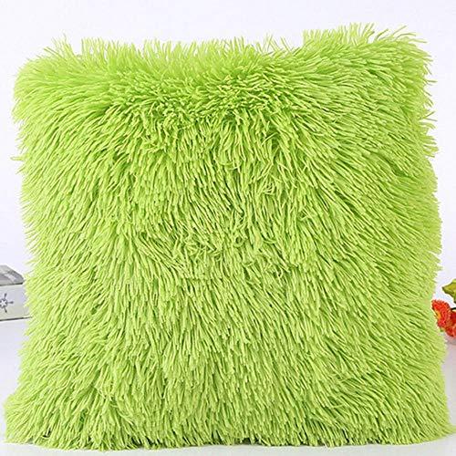 Viner Sierkussenhoes Hoes harige bank Taille kussenhoes Populaire vierkante pluche harige kussensloop Huisdecoratie, groen