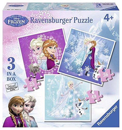 Frozen-07003 9 Rompecabezas progresivo, Multicolor (Ravensburger 7003) , color/modelo surtido