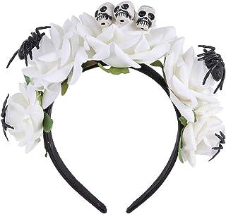 Amosfun Holloween rose headband spider hair hoop witch hair accessories for girls
