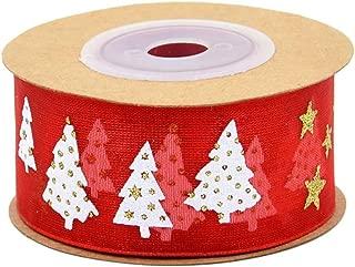 Uscyo Christmas Vintage Lace Ribbon Braid Deco Ribbon Decorative Ribbon Lace Fabric Christmas Tree for Sewing Craft Wedding Decoration Scrapbooking Gift Box 5M