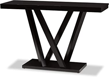 Baxton Studio Everdon Modern Sofa Table, Dark Brown