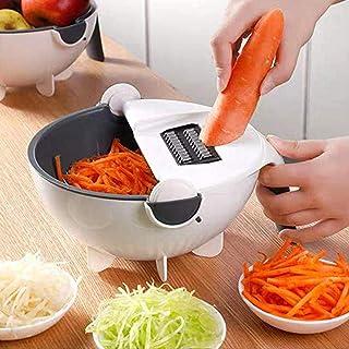 Trancheuse à mandoline polyvalente 7 en 1, hachoirs à légumes et à oignons coupe-légumes multifonctionnel coupe-légumes Ju...