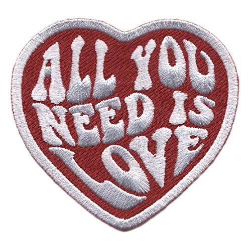 Titan One Europe Hook Fastener All You Need Is Love Heart Punk Rockabilly Tattoo Bag Jeans Jacket Patch Todo Lo Que Necesitas Es Amor Parche Táctico Bordado Gancho