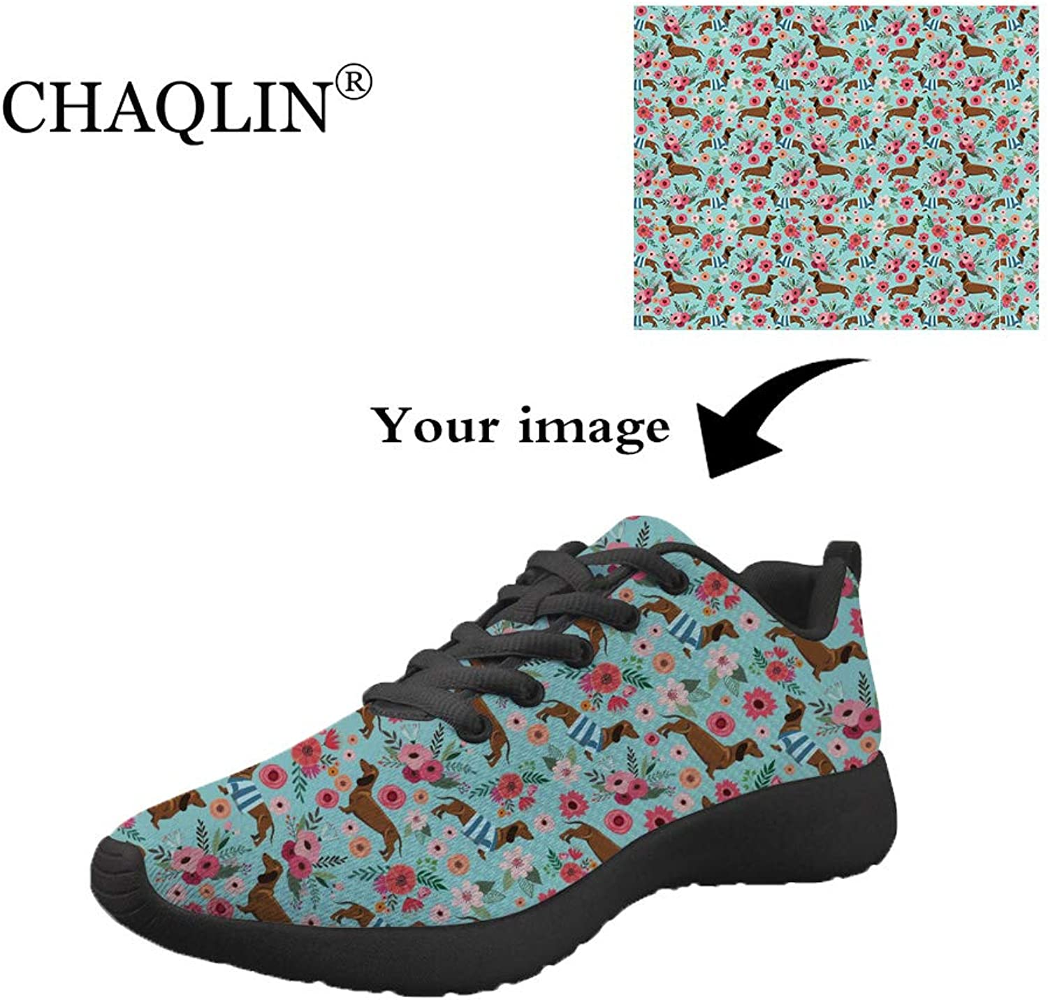Chaqlin Trainers Women Road Running shoes Outdoor Casual Sports Walking Comfort Low Top Sneakers Animal Horse Printed Travel Fashion shoes Mesh Breathable
