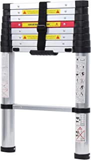 WolfWise 8.5FT Newly Aluminum Telescopic Ladder, 330lbs Max Capacity