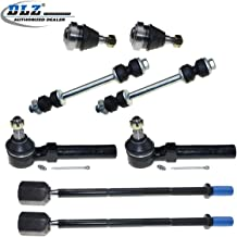 DLZ 8 Pcs Suspension Kit-Lower Ball Joint Inner Outer Tie Rod End Sway Bar End Link Kit Compatible with 1994 1995 1996 1997 1998 1999 2000 2001 2002 2003 2004 Ford Mustang K8749 ES3184RL K8848 EV127