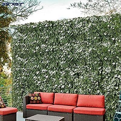 "Windscreen4less Artificial Faux Ivy Leaf Decorative Fence Screen 39"" x 98"" Ivy Leaf Decorative Fence Screen"