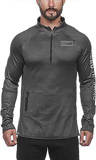 VANVENE Men's Workout Clothes Slim Sweatshirt - Bodybuilding Round Neck Sports Top Workout Running Pullover