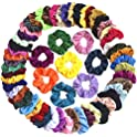 60-Pieces Mcupper Velvet Elastic Hair Scrunchies