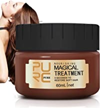 Magical Hair Treatment Mask, Advanced Molecular Hair Roots Treatment Professtional Hair Conditioner, 5 Seconds to Restore Soft Hair, Deep Conditioner Suitable for Dry & Damaged Hair(60ml)