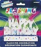 Multicolor Flashing Happy Birthday Cake Topper Decoration
