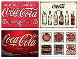 Set 4 Tovagliette plastificate Coca cola vintage