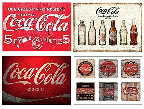Lot de 4 Sets de Table Motif Coca Cola Vintage